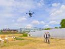 Eine GPS-gesteuerte Drohne